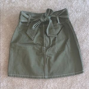 An army green mini skirt from Forever 21